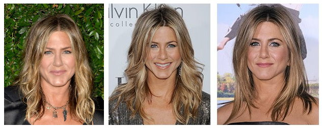 Celebrity Hairstyles - Jennifer Aniston long flowing hairstyles through the years