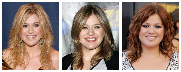 Celebrity Hairstyles -Kelly Clarkson hairstyles for a round face