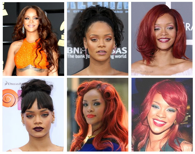 Celebrity Hairstyles - Rihanna Hairstyles