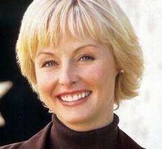 Fringe hairstyle Blonde Short Hairstyle with fringe bangs