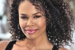 African American hairstyle medium length curly