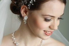 Formal Wedding hairstyle pinned up long hair