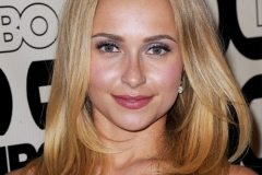 Hayden Panettiere hairstyle made possible with the help of hair extensions.