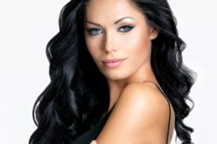 Woman with long hair and soft flowing waves