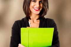 Medium length hair for professional woman