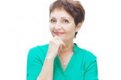 Attractive Woman Over 50 with short hairstyle