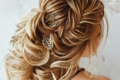 Evening Hairstyle Greek braid hairstyle back rear view