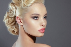 Young Woman Blonde Evening Hairstyle