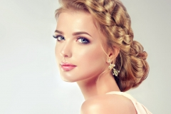 Evening hairstyle with bun